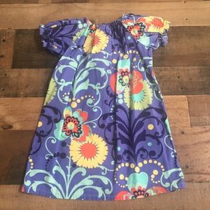 Haley and the Hound Floral Dress Blue Girls 2T